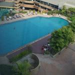 La piscine située au 7ème étage