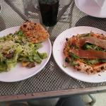 Caesar salad and Parma pizza