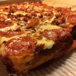 deep dish, bacon wrapped pizza