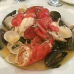 Lobster tails with clams and mussels