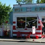 Doyles Ice Cream in its original location where the trolley tracks used to run.