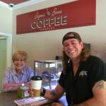 BST's GunSlinger with Jane at Organic Bean Coffee Co.