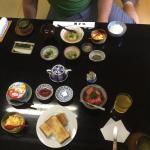Breakfast - one Western, one Japanese