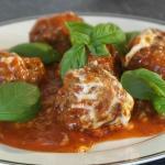 Sicilian Meatballs, best dish ever (I added the fresh basil)
