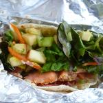 smoked salmon taco served cold