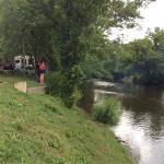 River adjacent to RV sites