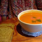 The carrot and tomato soup