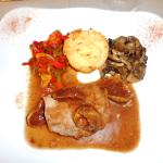 I chose a wild main dish - wild boar, and it was delicious.