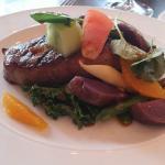 Chef's Special - 10 Oz Flat Iron Steak with Purple Potatoes etc