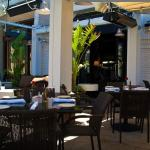 This is the lovely patio at the Grill on the Alley, Westlake Village, CA