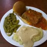 Meatloaf with 2 choice vegetables