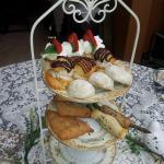 scones, aspergas, dessert