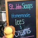 St. John Scoops Mango Ice Cream. Yummy!