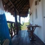 Hamaca en la terraza