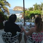 This was our breakfast view and their continental style is muy delicioso:-)