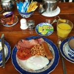 Delicious and generous English breakfast cooked to order