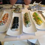 Des variétés de sushis