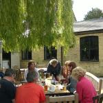 The terrace at the Seven Tuns