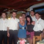 Me my friend and the waiters 2009