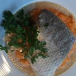 Plat poisson : risotto et bar