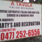 A Tavola sign