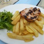 Chicken breast and chips