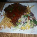 Half rack ribs and rib eye steak.. was delicious!