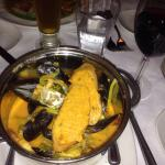 Bouillabaise soup was very good. Profiteroles were gigantic so definitely share with another per