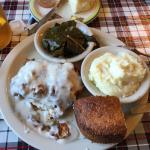 We really enjoyed this place- the sweet tea and biscuits are awesome. We had the meatloaf and bu