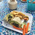 Breakfast burrito and Thai coconut