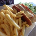 hot-dog du menu enfant