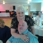hubby snd I at my sisters 60th birthday party