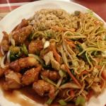 General Tso's Chicken and Chow Mein