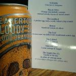 Home Made Scotch Egg Menu and Craft Ale from Beavertown