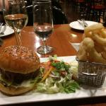 Chef recommended Angus Burger with Salad and Onion Rings. Wow fantastic. Amazing!