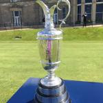 Claret Jug on display at the Old Course