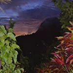 View of the Piton from the path at the back of the house leading up into the estate