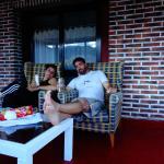 Terraza privada de la habitación en hotel Bilbi