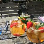 Pimm's O'clock on the terrace