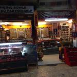 This is singing bowl shop in kalare night bazaar