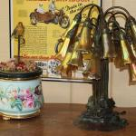 Musical Bird and Awesome Tiffany Lamp