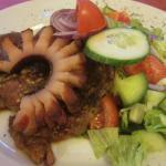 gypsy roast with veggie salad