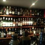 Well-stocked bar