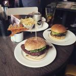 Great selection of burgers and fries