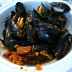Prince Edward Island (CANADA) Mussels in a Romesco Broth