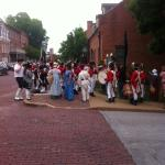 1800's Dress in down town St. Charles, MO