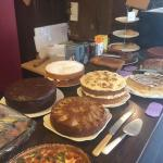 We have a large selection of homemade cakes. We try and have at least one vegan cake daily