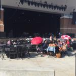 Wolf Creek Ampitheater, walking in and my view of the stage from the audience.