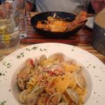 Pasta with white clam sauce. Beyond delicious!