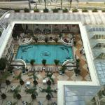 View of pool area from room.